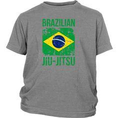 BJJ T Shirt - Brazilian Jiu Jitsu flag