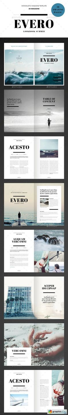 Amazing Minimal Magazine Indesign Template