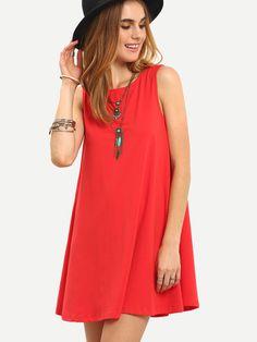 Shop Tie V Back Tank Swing Dress online. SheIn offers Tie V Back Tank Swing Dress & more to fit your fashionable needs. Robe Swing, Swing Dress, Bright Shorts, Latest Dress, Tie Dress, Fashion News, Fashion Black, Dress Fashion, Fashion Fashion