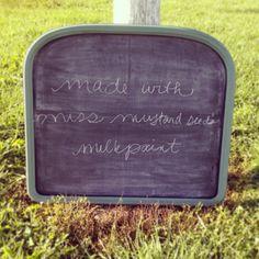 milkpaint as a chalkboard