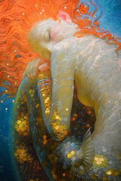 Mermaid painting by Victor Nizovtsev For a long time now, I have been searching for the perfect marine scent. It has to remind me of the sea, be invigorating Fantasy Kunst, Fantasy Art, Illustrations, Illustration Art, Victor Nizovtsev, Mermaid Fairy, Siren Mermaid, Mermaids And Mermen, Merfolk