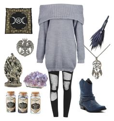 """Storm Witch"" by pixiesmither on Polyvore featuring Boohoo, witch, water, storm, wicca and cosey"