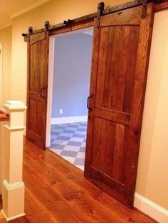 Sliding Barn Door - Antique Reclaimed Wood - Dual Radius Arch Design  (Pair)