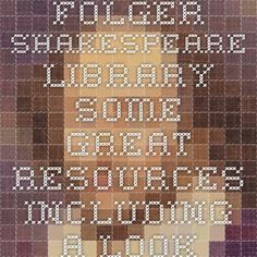 Folger Shakespeare Library - some great resources including a look at the women of the play and a character map.