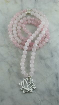 Mijn Favoriet!! Op het wensenlijstje!!  Blossom_Mala_Necklace_108_Rose_Quartz_Mala_Beads_Buddhist_Prayer_Beads