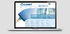 Diseño del portal Web para CLENET, empresa de servicios integrales de limpieza.