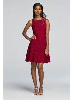 Short Sleeveless All Over Lace Bridesmaid Dress F18031