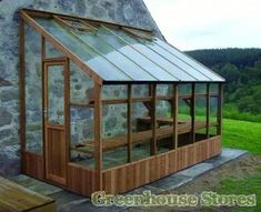 Swallow Dove Wooden Lean to Greenhouse