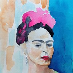 Frida watercolor and paper Reference photograph by Nickolas Muray