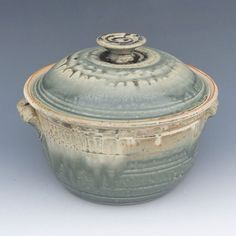 Pottery Casserole - Large Lidded Green