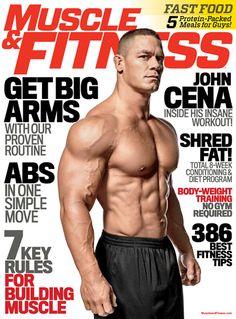 """John Cena, Portada de la Revista """"Muscle & Fitness"""" (Abril, 2014)"""