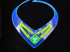 Prohibition Biohazard Cyber Choker in Clear by ProhibitionClubwear, £19.50