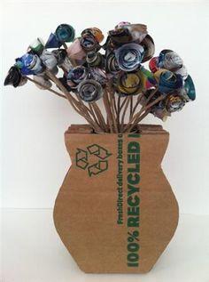 vaso de flores de papelão (Custom)