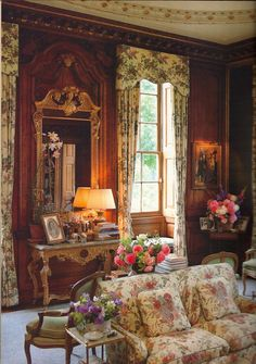 """Southern style is closely linked to traditional, English decorating: AD devoted an issue to """"the English Country House."""" specifically to the home of John and Diane Nutting - Chicheley Hall in Buckinghamshire. by english decorator Tom Parr English Manor Houses, English Country Cottages, English Country Style, English House, French Country, English Countryside, Classic Decor, Classic Interior, Home Interior"""