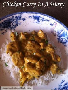 Easy Chicken Curry In A Hurry. Rob LOVED it, I thought it was ok. (But i don't really love curry like he does.)