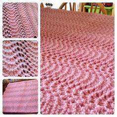 Havskumteppe | Trine's blog Blanket, Knitting, Crochet, Blog, Threading, Tricot, Breien, Stricken, Ganchillo