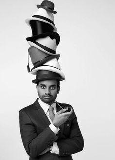 man with hats -- Aziz Ansari Derby, Aziz Ansari, Love Hat, Minimal Fashion, Fashion Hats, Fashion Fashion, Funny People, Funny Men, Funny Guys