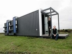 Fabricated from disused shipping container. Brainchild of Geoff Fulton and Carla Salomon of Fulton and Salomon Architects. Container Cabin, Cargo Container, Container House Design, Tiny House Design, Shipping Container Buildings, Shipping Container Home Designs, Shipping Containers, Modular Homes, Deco Design