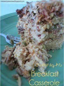 Overnight Layered Breakfast Casserole | AllFreeSlowCookerRecipes.com
