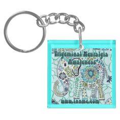 Trigeminal Neuralgia Awareness Elephant Key Chain.  #trigeminalneuralgia #trigeminalneualgiaawareness