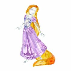 Create a fairytale with this limited edition Rapunzel, inspired by the computer-animated fantasy film Tangled. Dressed in purple, her long hair sparkles in yellow crystal. Another stunning depiction of a Disney Princess to add to your collection. Disney Rapunzel, Disney Fun, Disney Princess, Disney Figurines, Collectible Figurines, Swarovski Crystal Figurines, Swarovski Crystals, Pink Pendants, Apple Art