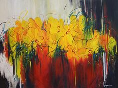 Luce Lamoureux- C'était en juin Inspiration Art, Paintings, Shower, Prints, How To Paint, Yellow, Oil, Rain Shower Heads, Paint