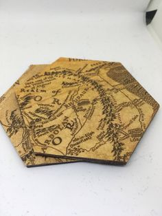 Excited to share the latest addition to my #etsy shop: Lord of the Rings Coasters- hexagonal JRR Tolkein Inspired Home Decor The Shire Home Accessories Geek Chic Hobbit Unique Gift for Birthday