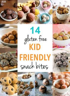 14 gluten free and kid friendly snack bites! These gluten free bites/balls are…