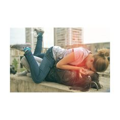 cute lesbians | Tumblr ❤ liked on Polyvore featuring couples, lesbian and love