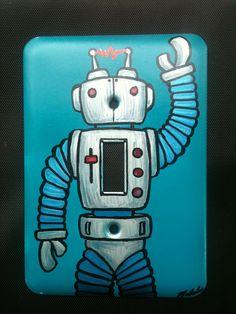 Robot Light Switch Plate. $24.00, via Etsy.