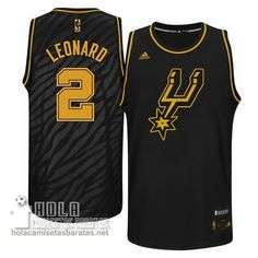Camisetas Nba Baratas Metales Preciosos Moda Swingman Leonard #2 Negro San Antonio Spurs  €21.9