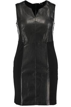 Dress | Black & White | Leatherlook | Fashion | Plussize fashion | Zwarte Jurk