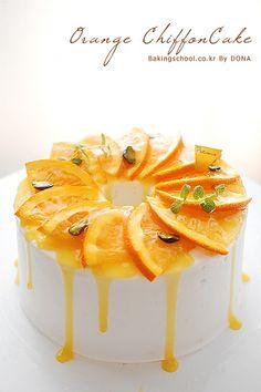 오렌지 쉬폰케이크