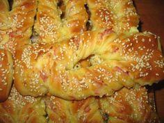 Slane grickalice – mašnice sa šunkom i sirom - Slana i slatka peciva