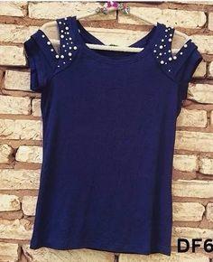 blusa feminina blusinha t-shirt de malha com pedrarias