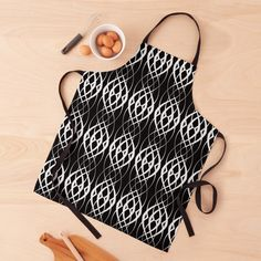 Black Tie, Black And White, Apron Designs, Long Black, Print Design, Curves, Women's Fashion, Printed, Awesome