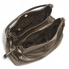 Coach :: MADISON SMALL PHOEBE SHOULDER BAG IN METALLIC LEATHER