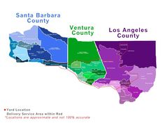 Did you know that Porta-Stor offers free delivery and pick-up within our service area? You can check to see if you're within our areas of Santa Barbara, Ventura, or Los Angeles counties with this detailed map! Storage Rental, Area Map, Santa Barbara County, Ventura County, Los Angeles County, Free Delivery, How To Remove, Shipping Containers, Places