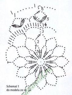 Bombka_4 schemat Christmas Globes, Christmas Bells, Christmas Baubles, Crochet Motif Patterns, Crochet Chart, Crochet Hooks, Crochet Doilies, Crochet Flowers, Crochet Christmas Decorations