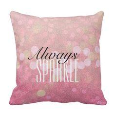 Pink Sparkle pillow