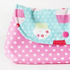 Cupckae Schminktäschen mit praktischem Druckknopf in Pink #naehfein #pink #schminktasche #handmade #geschenk