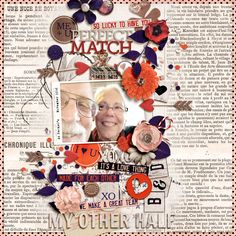 Perfect Match - Sweet Shoppe Gallery -On A Whimsical Adventure (with Sugary Fancy)  Perfect Match http://www.sweetshoppedesigns.com/sw...886&page=1 Font | The Sopha  *This is inspired by a layout by Corrie Jones