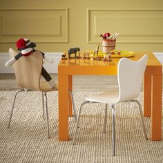 West Elm kid-size table and chairs