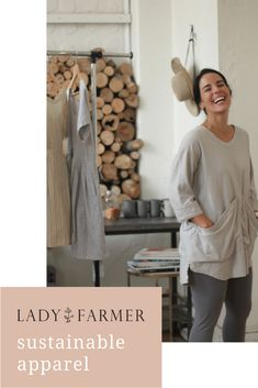 Preorder Lady Farmer Sustainable Apparel on BackerKit Fashion Over 50, Slow Fashion, Plastic Hair Ties, Farmer Outfit, How To Make Clothes, Making Clothes, Slow Living, Future Fashion, Sustainable Clothing