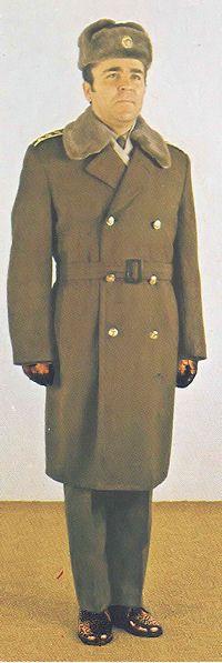 1980 pattern Czechoslovak People's Army (ČSLA) officers' winter service uniform.