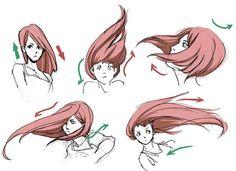 Resultado de imagem para reference drawing hair #drawinghair