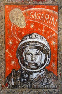 john langford art | Jon Langford: Yuri Gagarin