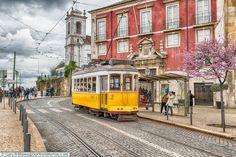 Tram 28 - waiting, Lisbon, Portugal