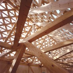 """""""jensen & skodvin - roof detail at the tautra maria convent, tautra island jsa. Timber Architecture, Amazing Architecture, Architecture Details, Timber Roof, Roof Trusses, Timber Structure, Roof Detail, Wood Joinery, Built Environment"""