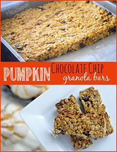 Easy Pumpkin Chocolate Chip Granola Bars Hip2Save